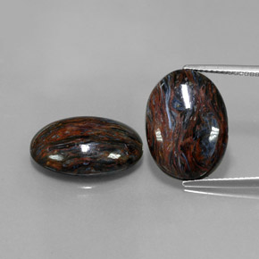 Multicolor Pietersite Gem - 8.4ct Oval Cabochon (ID: 347704)
