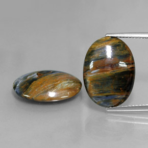 Multicolor Pietersite Gem - 6.6ct Oval Cabochon (ID: 347853)