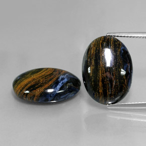 Multicolor Pietersite Gem - 8.6ct Oval Cabochon (ID: 347855)