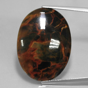 20.6ct Oval Cabochon Multicolor Pietersite Gem (ID: 348352)