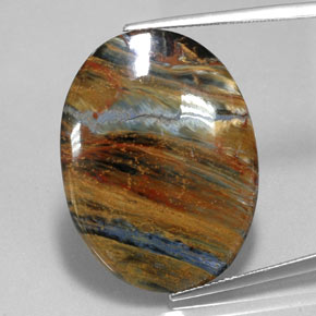 19.9ct Oval Cabochon Multicolor Pietersite Gem (ID: 350666)