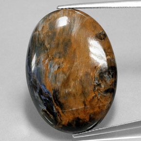 28.6ct Oval Cabochon Multicolor Pietersite Gem (ID: 350678)