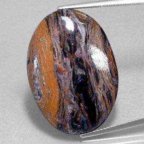 26.4ct Oval Cabochon Multicolor Pietersite Gem (ID: 350679)