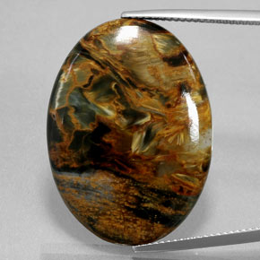 Multicolor Pietersite Gem - 21.6ct Oval Cabochon (ID: 371375)