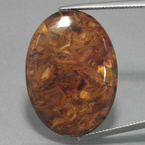 27.3ct Oval Cabochon Multicolor Pietersite Gem (ID: 371427)