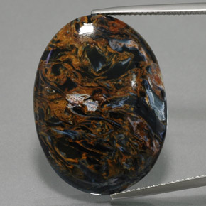 Multicolor Pietersite Gem - 25.6ct Oval Cabochon (ID: 371480)