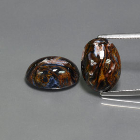 Multicolor Pietersite Gem - 5.5ct Oval Cabochon (ID: 371775)