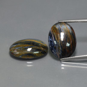 Multicolor Pietersite Gem - 8.1ct Oval Cabochon (ID: 371838)