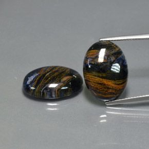 Multicolor Pietersite Gem - 8.2ct Oval Cabochon (ID: 371839)