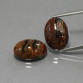 Multicolor Pietersite Gem - 4.9ct Oval Cabochon (ID: 371946)