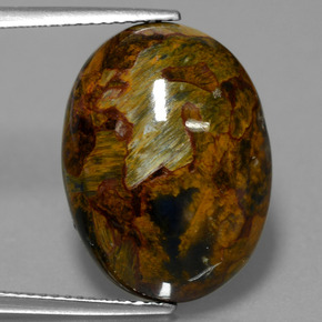 Multicolor Pietersite Gem - 13.3ct Oval Cabochon (ID: 447684)
