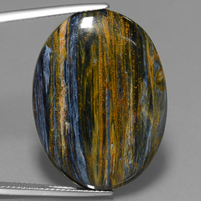 Multicolor Pietersite Gem - 23.2ct Oval Cabochon (ID: 447712)