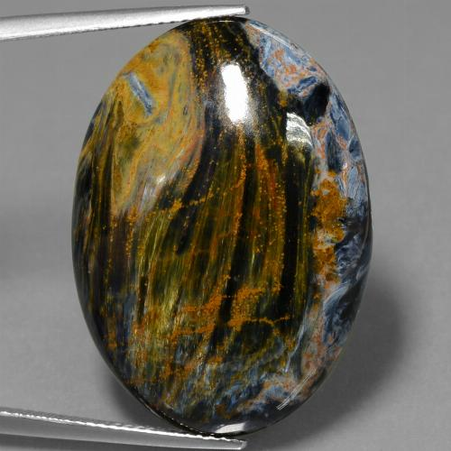 28.3ct Oval Cabochon Multicolor Pietersite Gem (ID: 447780)