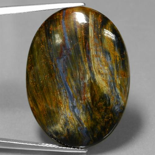 23.4ct Oval Cabochon Multicolor Pietersite Gem (ID: 447785)