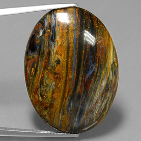 Multicolor Pietersite Gem - 24.6ct Oval Cabochon (ID: 447786)
