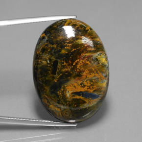 37ct Oval Cabochon Multicolor Pietersite Gem (ID: 447803)