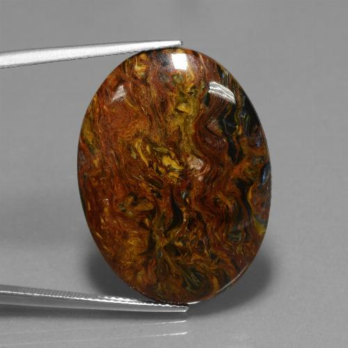 22.2ct Oval Cabochon Multicolor Pietersite Gem (ID: 447805)