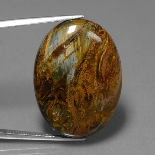 Multicolor Pietersite Gem - 34.2ct Oval Cabochon (ID: 447807)