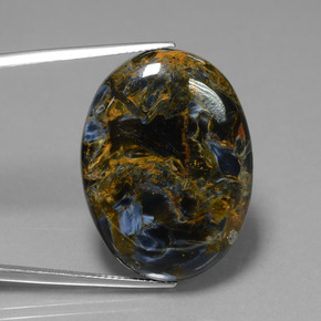 31.7ct Oval Cabochon Multicolor Pietersite Gem (ID: 447809)