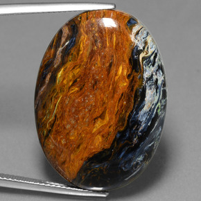 Multicolor Pietersite Gem - 28.3ct Oval Cabochon (ID: 447852)