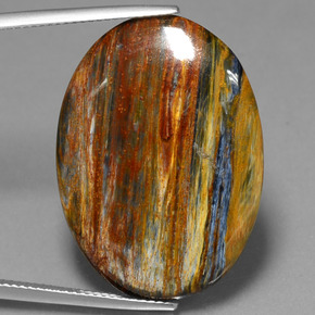 19.4ct Oval Cabochon Multicolor Pietersite Gem (ID: 447854)
