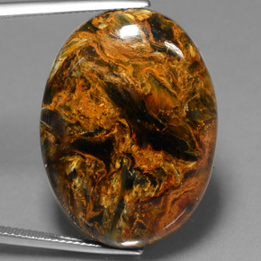 Multicolor Pietersite Gem - 41.7ct Oval Cabochon (ID: 447855)