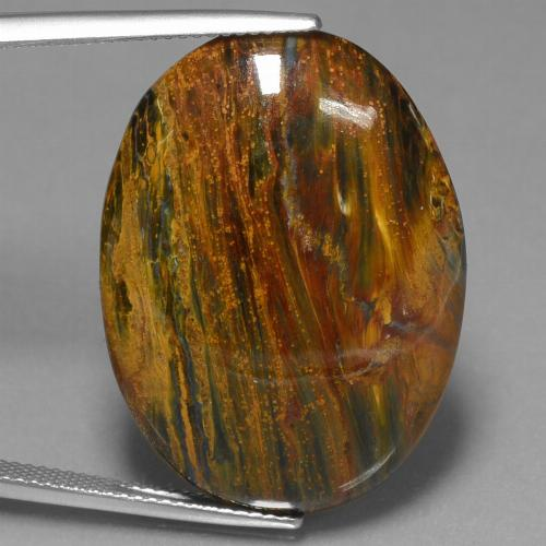 25ct Oval Cabochon Multicolor Pietersite Gem (ID: 447856)