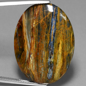 22.1ct Oval Cabochon Multicolor Pietersite Gem (ID: 447861)
