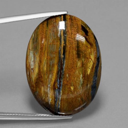 26.4ct Oval Cabochon Multicolor Pietersite Gem (ID: 447876)