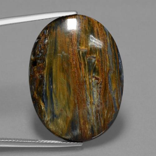 Multicolor Pietersite Gem - 23.7ct Oval Cabochon (ID: 447878)