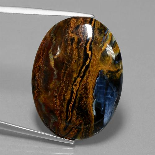 19.6ct Oval Cabochon Multicolor Pietersite Gem (ID: 447883)