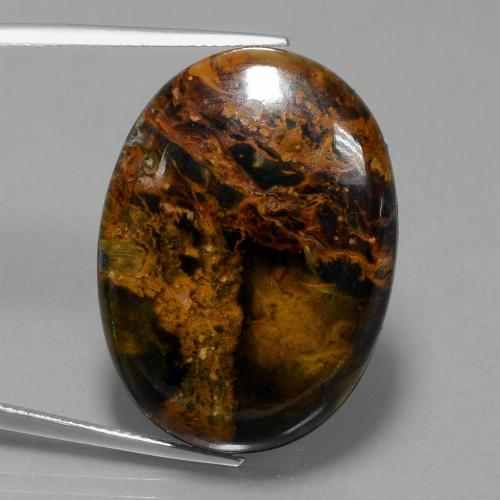 35.7ct Oval Cabochon Multicolor Pietersite Gem (ID: 447884)