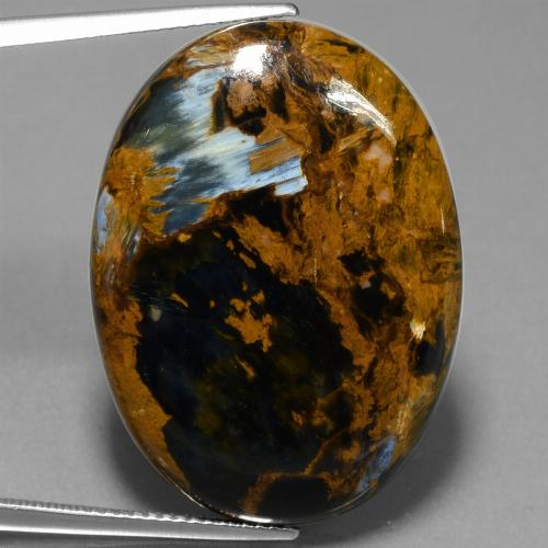 30ct Oval Cabochon Multicolor Pietersite Gem (ID: 447888)