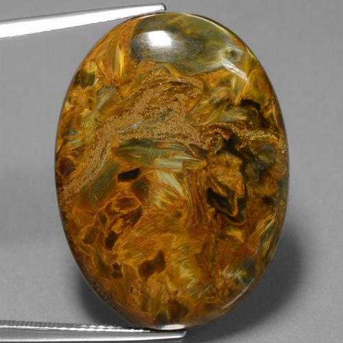 28.8ct Oval Cabochon Multicolor Pietersite Gem (ID: 447890)