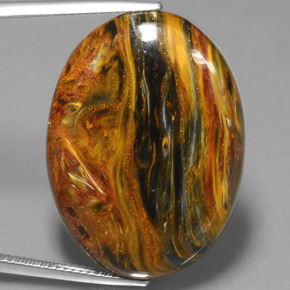 Multicolor Pietersite Gem - 32.1ct Oval Cabochon (ID: 447895)