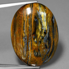 Multicolor Pietersite Gem - 26.7ct Oval Cabochon (ID: 447923)