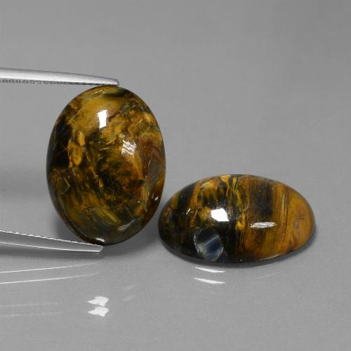 Multicolor Pietersite Gem - 13.1ct Oval Cabochon (ID: 447952)