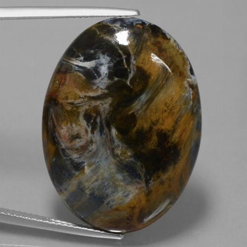 33.9ct Oval Cabochon Multicolor Pietersite Gem (ID: 447959)