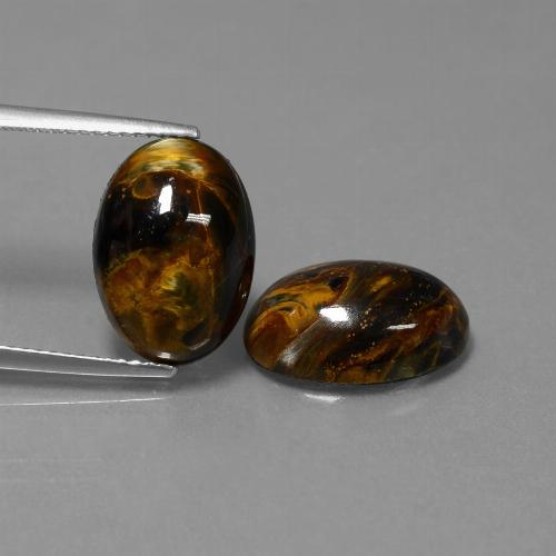 Multicolor Pietersite Gem - 4.9ct Oval Cabochon (ID: 448209)