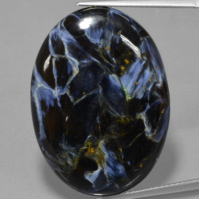 28.3ct Oval Cabochon Multicolor Pietersite Gem (ID: 456175)