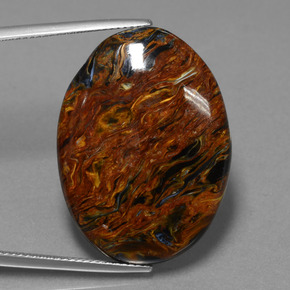 Multicolor Pietersite Gem - 31.3ct Oval Cabochon (ID: 456555)