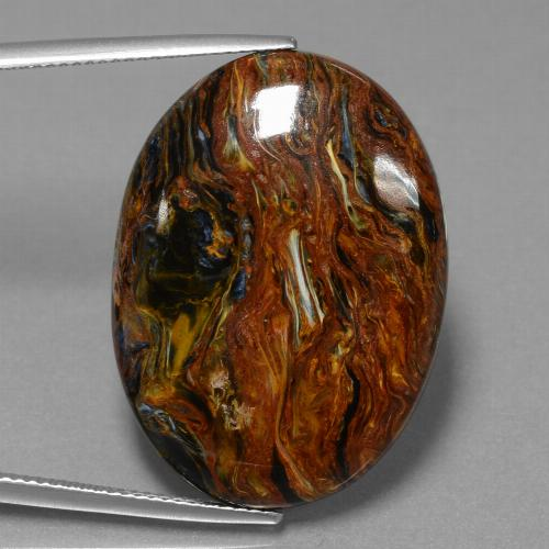 29ct Oval Cabochon Multicolor Pietersite Gem (ID: 456562)