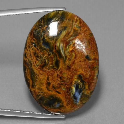 34.2ct Oval Cabochon Multicolor Pietersite Gem (ID: 456563)