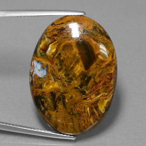Multicolor Pietersite Gem - 28.3ct Oval Cabochon (ID: 456566)