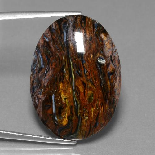 24.6ct Oval Cabochon Multicolor Pietersite Gem (ID: 456603)