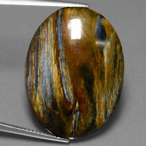 Multicolor Pietersite Gem - 20.7ct Oval Cabochon (ID: 456606)
