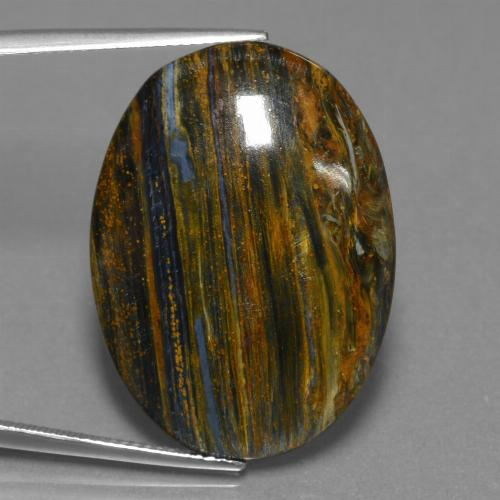24.1ct Oval Cabochon Multicolor Pietersite Gem (ID: 456608)