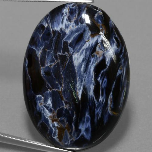 Multicolor Pietersite Gem - 31.3ct Oval Cabochon (ID: 456675)