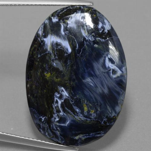 Multicolor Pietersite Gem - 25.1ct Oval Cabochon (ID: 456677)