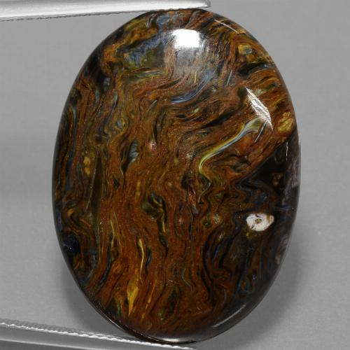 29ct Oval Cabochon Multicolor Pietersite Gem (ID: 456681)